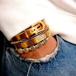 Real Gold Tennis Bracelet, Real Gold Diamond Bracelet, 14K White Gold Diamond Tennis Bracelet, Mens Gold Rope Chain Bracelet, Women's Gold Bracelet With Diamonds, 18Kt Gold Bracelet Mens, Bangle Charm Bracelet Set for men