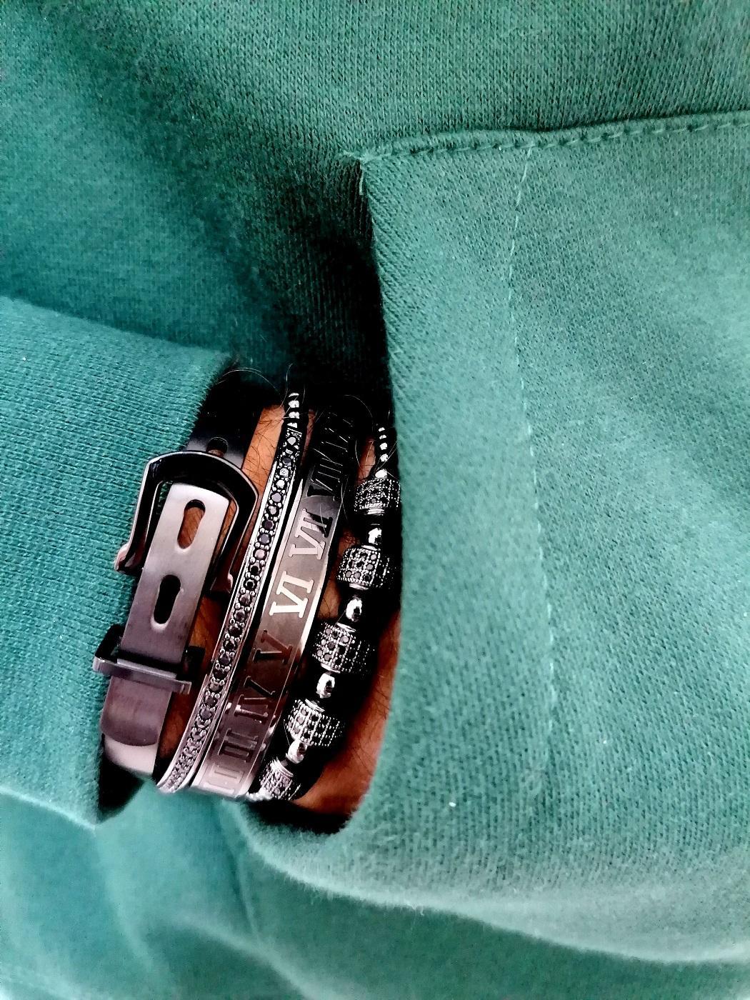 New York Black Crown Bracelet, Black Leather Bracelet, Mens Black Leather Bracelet, Black Diamond Tennis Bracelet, Mens Black Bead Bracelet, Black Wristband,Mens Stacked Bracelets Amazon New York