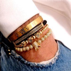 In Style Bracelets, Metal Bracelet Cuff, Mens Black Cuff Bracelet, White Bangle Bracelet, 14K Gold Bracelet With Diamonds