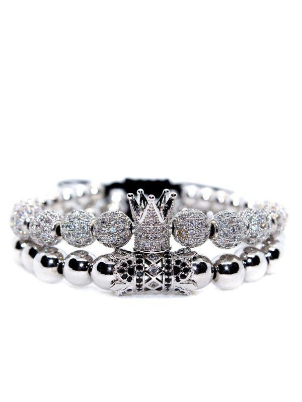 Bratara argintie royal, Brățări Guy din piele, Brățări elegante pentru bărbați, Brățară King pentru bărbați, Brățări făcute manual pentru băieți, Brățări cuplu coroană, Brățară rotundă cu diamante, Brățări coroană cuplu, Brățară tenis cu diamante albe, Brățară King, Brățară din piele pentru bărbați, Brățară regală Bijuterii din argint