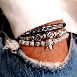 New Bracelet Design, Mens Cuban Link Bracelet, Personalized Dad Bracelet, Braided Bracelet, Mens Ceramic Bracelet, 1 Carat Tennis Bracelet, Men's Tennis Bracelet, Men's Designer Bracelet, Unique Diamond Bracelet with crown charm
