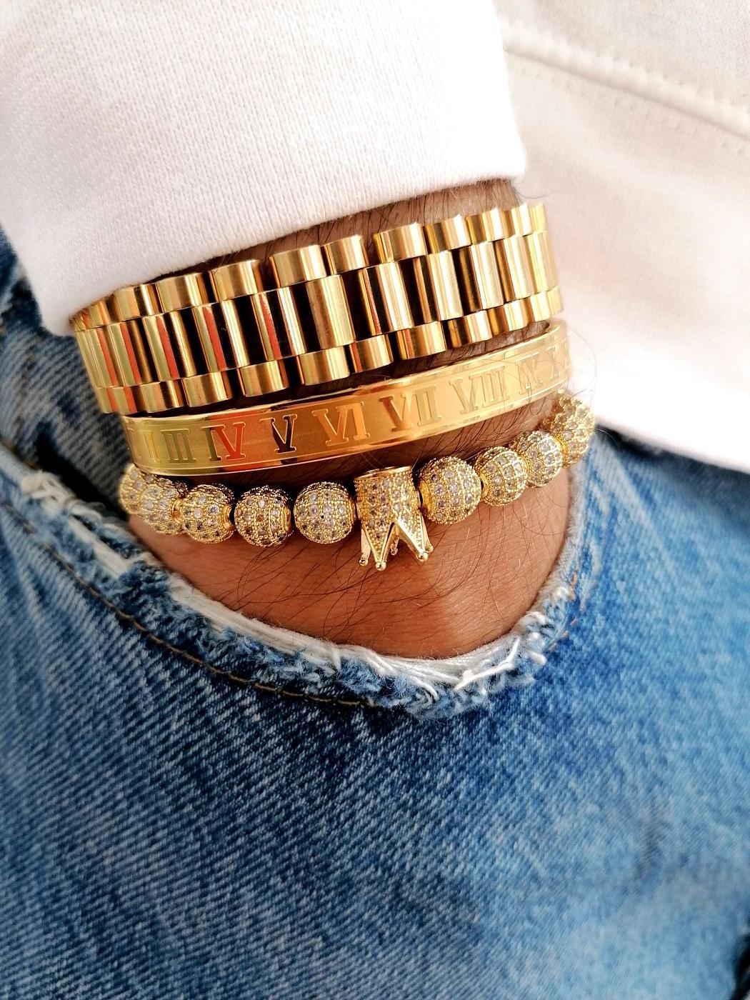 Diamond Crown Bracelet, Diamond Crown Bracelets, King And Queen Crown Bracelets, King And Queen Crown Charm Bracelet, King Bracelet Price, King Bracelet Set, Master Stack Bracelet, Men's Braided Bracelet, Mens Bracelets, White Gold And Diamond Bangle