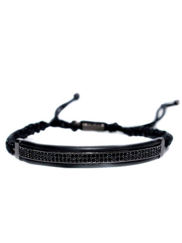 Tennis Bracelet Black Friday, Black Charm Bracelet, Black Beads Bracelet Gold, Mens Black Cuff Bracelet, Mens Black Bracelet