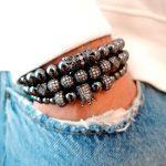 Black Jewel Crown, Black Diamond Bracelet, Black Bracelet, Black Jewelry, Black Bead Bracelet, Black And Gold Bracelet, Black Tennis Bracelet, Black Stainless Steel Bracelet, Mens Bracelets Amazon New York