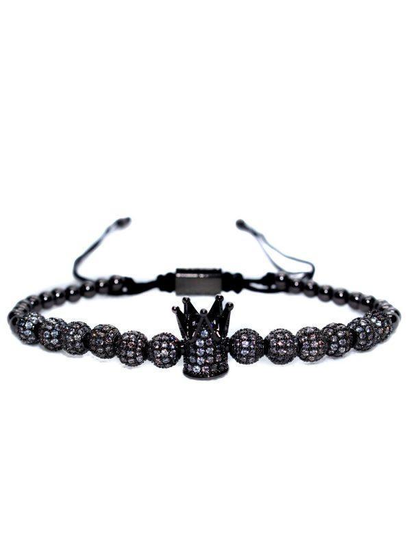 Crown Bracelet, Crown Bracelet Charm, Crown King Charm Bracelet, Crystal Crown Bracelet, Crystal Crown Bracelet Mens, Diamond Bracelet, Queen Bracelet With Crown