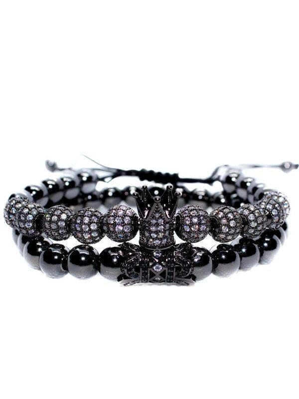 Black Wristband, Black And Gold Bracelet Mens, Black Diamond Bracelet Womens, Mens Black Metal Bracelet, Mens Black Stainless Steel Bracelet, Royal Bracelet Black Jewelry