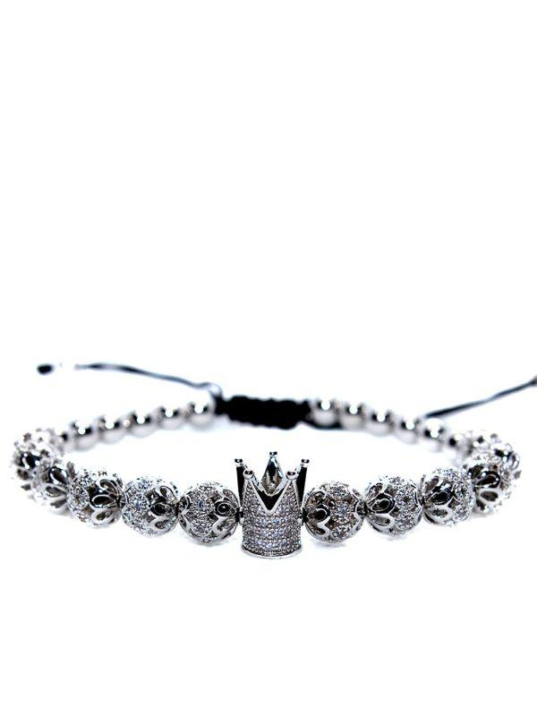 King And Queen Bead Bracelets, King And Queen Bracelets Near Me, King And Queen Crown Bracelet, King Bracelet, King Bracelet For Sale, King Bracelet Online, King Bracelets, King Crown Bracelet, Men's Silver Bracelet Models with crown