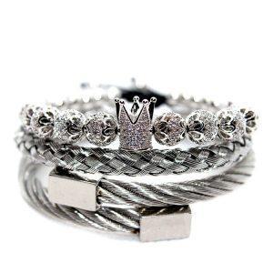 Set de brățări King Crown, Brățări King Crown, Brățară King Queen Crown, Brățară cu diamante pentru bărbați din oțel inoxidabil, Bijuterii cu diamante pentru bărbați de vânzare, Brățară dublă împletită pentru bărbați, Brățară King Crown pentru bărbați, Bijuterii cu brățări cu mărgele pentru bărbați, Brățară pentru bărbați, Brățară pentru bărbați online, Nou Brățară York Bijuterii din argint pentru bărbați, Bratara argintie New York