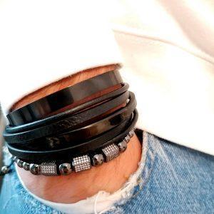 Mens Bracelets Silver And Black, Black Diamond Bracelet Mens, Black Diamond Bracelet Mens Price, Black Cuff Bracelet, Tennis Bracelet Black Friday, Black Charm Bracelet, Black Gold, Mens Black Cuff Bracelet,Adjustable Bangle Bracelet New York