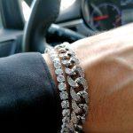 Silver Link Bracelet Mens Silver Link Bracelet Silver Chain Link Bracelet Gold And Silver Link Bracelet Silver Cuban Link Bracelet Diamond Link Bracelet for men New York