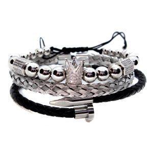 Brățară cu coroană din argint din New York, brățări din argint pentru femei, mărgele din brățară din argint, brățară din argint, brățări din argint, design brățară din argint, brățări din argint lucrate manual, brățară din argint și aur, brățări din argint pentru bărbați, brățară din argint pentru bărbați, brățară din Ohio bijuterii din argint, bratara argintie Ohio