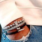 Silver Cuff, Unique Sterling Silver Bracelets, Mens Sterling Silver Cuff Bracelet, Real Silver Bracelets, Sterling Silver Cuff, Mens Silver Cuff, Silver Bracelet For Boys, Silver Love Bracelet, Silver Dragon Bracelet, Silver Gold Bracelet, Silver Charms For Charm Bracelet, Black And Silver Bracelet, Sterling Silver Beaded Bracelet with crown charm