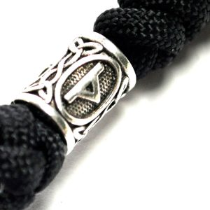Breloc Sparta Vikings textil negru insemne nordice